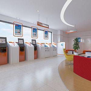 银行自助机3d模型