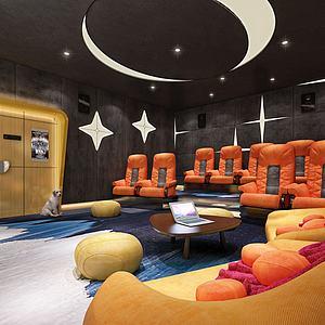 私人影院电影院影厅包房模型