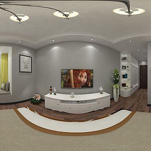 现代儿童卧室女儿房3d模型