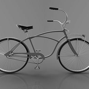 复古风小单车自行车模型