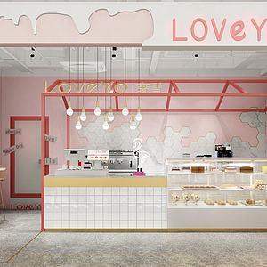 冰淇凌甜品店模型