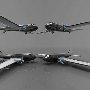 現代飛機模型3d模型