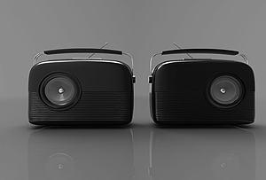 现代风格收音机模型3d模型