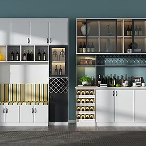北欧现代酒柜模型