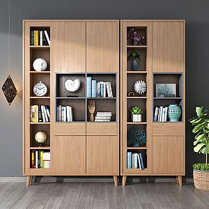 现代书柜模型