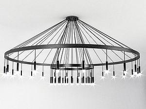 现代吊灯模型3d模型