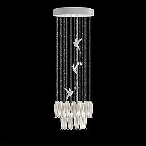 飞鸟艺术吊灯模型3d模型