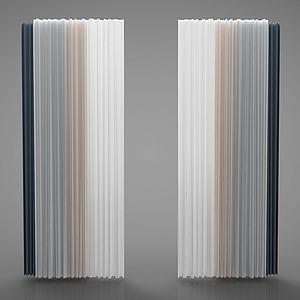 新中式窗帘模型