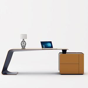 现代办公桌3d模型