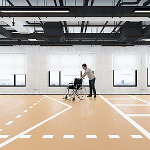 殘疾人康復中心模型3d模型