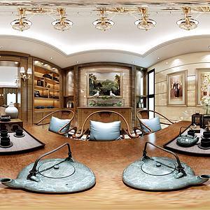 欧式客餐厅卧室模型