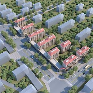 住宅鸟瞰模型