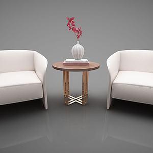 新中式家具组合模型