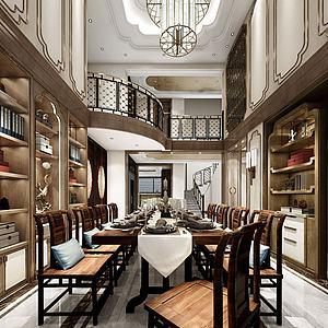 别墅餐厅模型