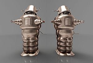 现代机器人摆件模型3d模型