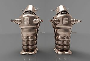 3d現代<font class='myIsRed'>機器人</font>擺件模型