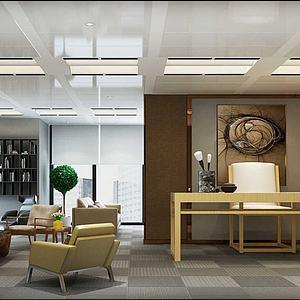 现代经理办公室模型3d模型