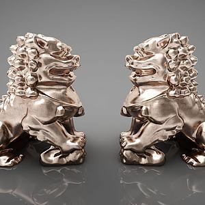 新中式雕塑摆件模型