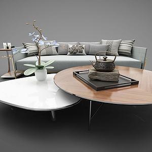 新中式家具组合模型3d模型