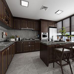 新中式厨房模型3d模型