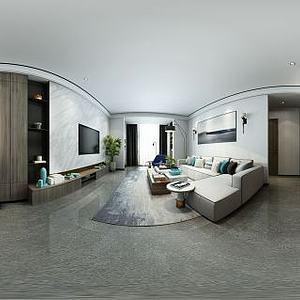 现代客餐厅空间模型