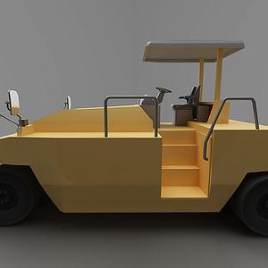 现代压路车模型