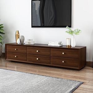 現代簡約電視機柜3d模型