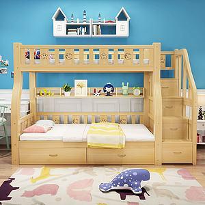 简欧现代儿童床模型