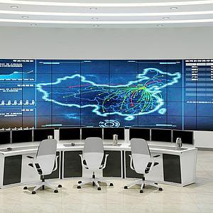 现代中控室模型