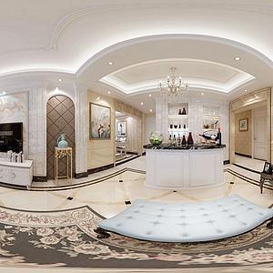 现代欧式客厅模型