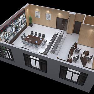 监控室模型