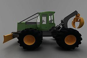 現代工程車模型3d模型