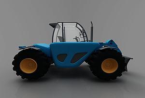 現代運輸車模型3d模型