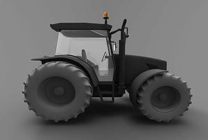 現代壓路機模型3d模型
