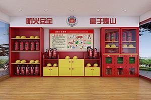 微型消防站模型模型