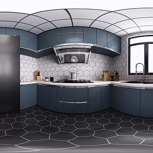 现代北欧厨房模型