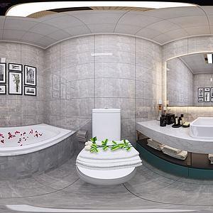 现代卫生间模型