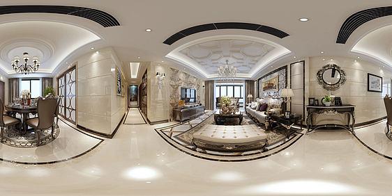 3d新中式客厅模型