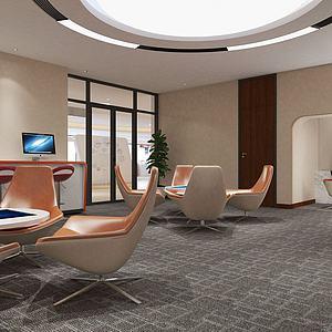 3d银行贵宾室模型