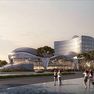 圖書館,展覽館,博物館模型3d模型