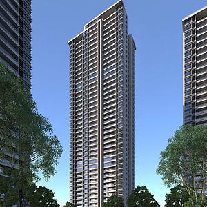 住宅樓模型3d模型