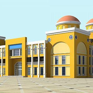 幼兒園大樓3d模型