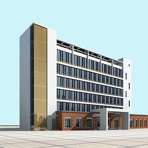 現代辦公樓3d模型