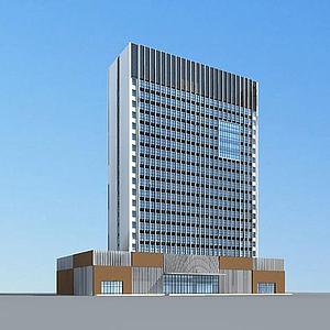 现代酒店大楼模型3d模型