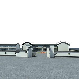古建办公楼模型3d模型