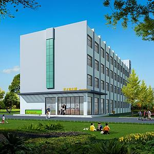 幼兒園大樓模型3d模型