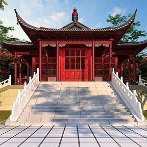 3d中式古建模型