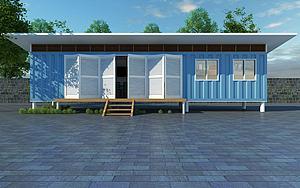 集装箱建筑模型3d模型