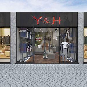 3d服装店模型