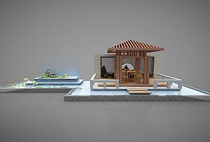 新中式亭子3d模型